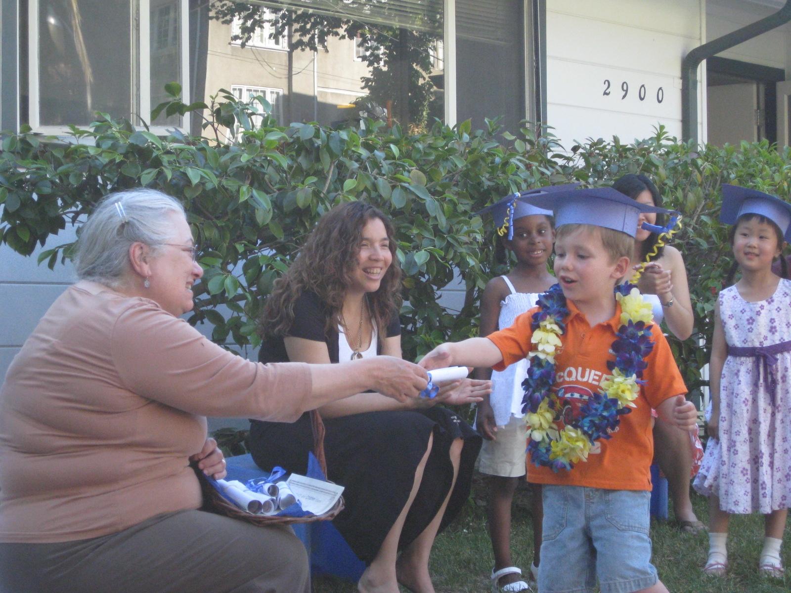 Graduates from Clark Kerr Preschool